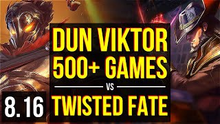 Download Dun - VIKTOR vs TWISTED FATE (MID) ~ 500+ games, Dominating ~ NA Master ~ Patch 8.16 Video