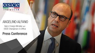 Download Angelino Alfano, OSCE Chairperson-in-Office press conference Video