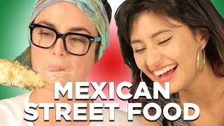 Download People Try Mexican Street Food Video