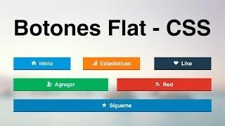 Download Como hacer botones Flat usando iconos con CSS Video