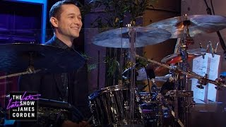 Download Joseph Gordon-Levitt Takes Over the Drums Video