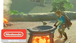 Download The Legend of Zelda: Breath of the Wild - Hunting and Gathering Gameplay - Nintendo E3 2016 Video