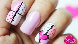 Download Decoracion de uñas corazon / Heart nail art tutorial Video