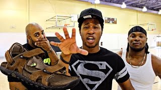 Download THE WORST PUNISHMENT EVER! HALF COURT SHOTS ONLY CHALLENGE! LOSER HAS TO HOOP IN THE MOSES 12's! Video