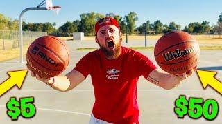 Download $5 Basketball vs. $50 Basketball! IRL Basketball Challenge Video