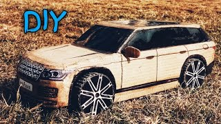 Download How To Make a rc Car (LAND ROVER ,RANGE ROVER 2017) AMAZING DIY CARDBOARD CAR, CARDBOARD PAPER CAR Video