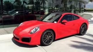 Download 2017 Lava Orange Porsche 911 Carrera 370 hp @ Porsche West Broward Video