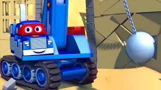 Download Carl the Super Truck and the Demolition Crane in Car City | Cars & Trucks Cartoons for kids Video