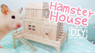 Download Popsicle Stick House ☆HAMSTER DIY☆ Video