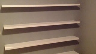 Download How to Build Sleek Free-Floating Wall Shelves! Video