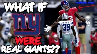 Download What if the NEW YORK GIANTS WERE ALL GIANTS IN REAL LIFE?? Madden 17 Video