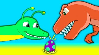 Download Mystery Dinosaur Egg! Find the egg's dinosaur mother! Groovy The Martian episodes cartoon for kids! Video