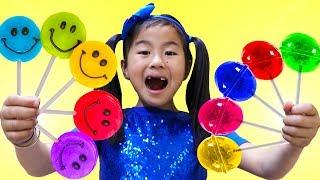 Download Rainbow Fruit Lollipops Color Song | Jannie Pretend Play Learn Colors Nursery Rhymes & Kids Songs Video
