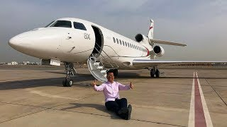 Download Flying Dassault Falcon 8X Private Jet to Paris Video