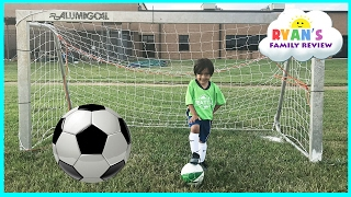 Download Family Fun Kids Outdoor Activities! Ryan First Soccer Practice and First Game Highlights! Video