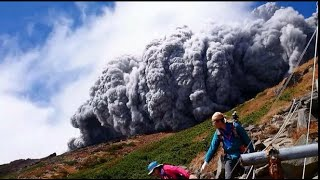 Download Japan's Mount Ontake volcano erupted/eruption, killing 34 people, report BBC (corrected aspect) Video
