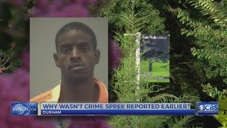 Download Why wasn't Durham crime spree reported by police sooner? Video