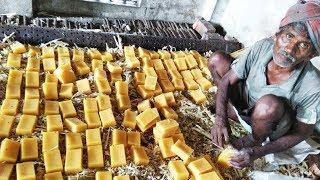 Download Jaggery Making With Farm Fesh Sugarcane Juice In My Village   Making Of Gurr   Bellam   Panela Video
