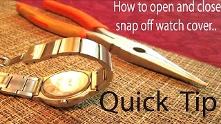 Download Quick TIP on How to open and close snap off watch back cover without special tools Video