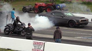 Download Epic Race !! Demon vs Turbo Hayabusa -604 Street Legit drag racing Video
