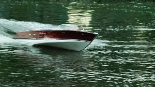 Download Riva Aquarama RC scale 1:5 - 167cm long with Leopard 56110 motors Video