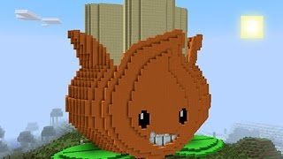 Download Minecraft vs Zombies   GIGA A.K.E.E.!! (Test fire!)   PvZ Land Video