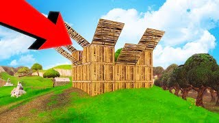 Download BUILDING THE BIGGEST WOODEN FORTS! - FORTNITE BATTLE ROYALE Video