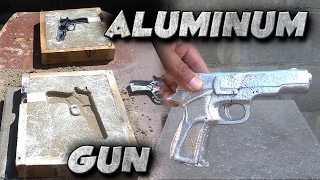 Download Casting A 9mm Toy Gun Into Solid Aluminum Not Lost Foam Video