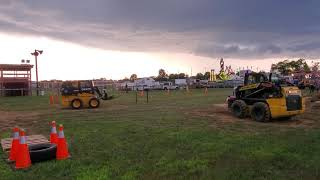 Download The farmer's son takes on the farmer at the Elizabethtown fair skid loader rodeo Video