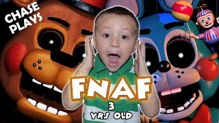 Download Five Nights At Freddy's 3 Year Old Gameplay! (CHASE PLAYS & JUMPS! | FNAF 2) FGTEEV Video