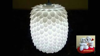 Download DIY# 13 CHANDELIER MADE OF RECYCLED PLASTIC SPOONS Video