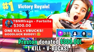 Download DONATING $$$ TO 13 YEAR OLD FORTNITE STREAMER! Video