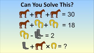 Download ″Only A Genius Can Solve″ Viral Math Problem - The Horse, Horseshoe, Boots Problem Video
