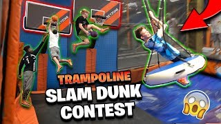 Download INSANE Trampoline Dunk Contest & Obstacle Course! *Hilarious* Video
