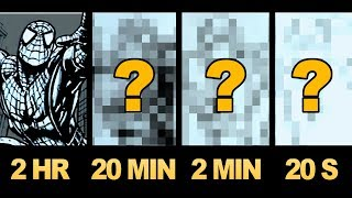 Download DRAWING SPIDER-MAN in 2 HOURS, 20 MINUTES, 2 MINUTES, 20 SECONDS! ART CHALLENGE! Video