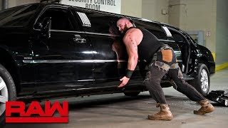 Download Furious Braun Strowman pushes over Mr. McMahon's limousine: Raw, Jan. 14, 2019 Video