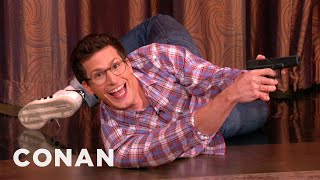 Download Andy Samberg Proves He's Got Action Star Potential Video