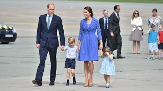 Download Duke & Duchess of Cambridge depart Poland for Germany Video