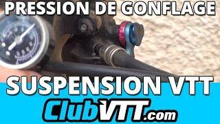 Download Suspension vtt - Pression de gonflage fourche et amortisseur - 055 Video