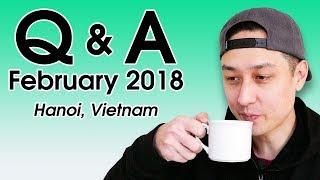 Download Q&A: Favorite Vietnamese Food? Cost of Living in Vietnam? (February 2018) | LIFE IN VIETNAM Video