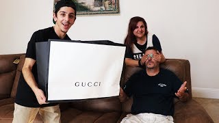 Download SURPRISING MY DAD WITH $3,000 OF GUCCI!! *emotional* | FaZe Rug Video