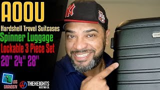 Download Aoou Travel Suitcase Spinner Luggage Set 💼 : LGTV Review Video