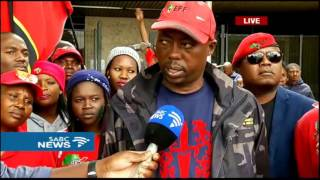 Download Hundreds protest against racism outside the Middelburg Magistrate's Court Video