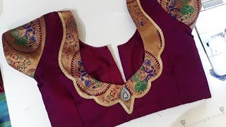 5f3eb16f51d7d1 ... easy blouse back neck design cutting and stitching /blouse designs