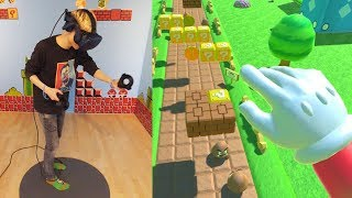 Download BECOME SUPER MARIO IN VIRTUAL REALITY! | Super Mario Bros VR (HTC Vive Pro + Proximat Gameplay) Video