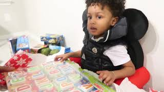 Download CJ OPENS HIS CHRISTMAS GIFTS WITH MOMMY & DADDY!!! Video