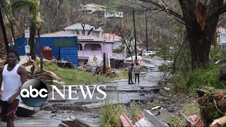Download On the island of Dominica, nearly complete destruction by Hurricane Maria Video