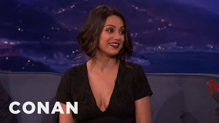 Download Mila Kunis Can't Deal With Her New Boobs - CONAN on TBS Video