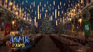 Download Christmas at Hogwarts Great Hall 🎄 ☃ Harry Potter 1 hour holiday music ASMR magical soundscape Video