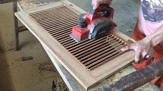Download Amazing Woodworking Technical Extremely High - How To Make A Shutter Door For Storage Cabinets Video